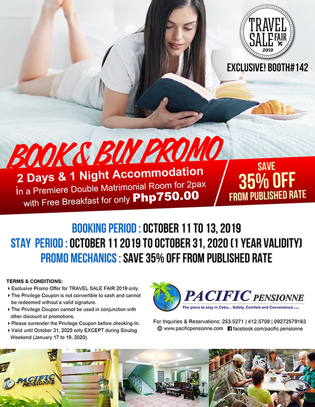 Pacific Pensionne -Book and Buy Promo